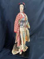 Vintage Japanese Geisha Silk Kimona doll With Condition Issues