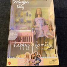 ** NIB BARBIE DOLL 2002 HAPPY FAMILY MIDGE MOM & BABY PREGNANT 56663 BOX #1