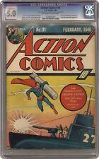 Action Comics #21 CGC 5.0 CONSERVED 1940 1226633001