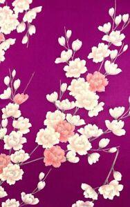 Vintage SILK Japanese FURISODE Kimono Fabric Panel  #F4f