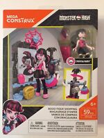 Mega Construx  Monster High  Draculaura Booo-tique Shopping 59 Pieces (DYLO2)New