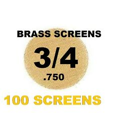"100 3/4"" (.75"") Inch Brass Pipe Screen Tobacco Smoke Screen WITH CLIPPER LIGHTER"