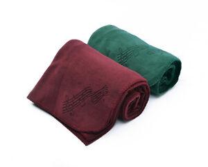 "Music Notes Fleece Blanket, Laser Etched, Burgundy or Forest Green, 50"" x 60"""