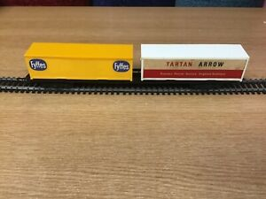 Tri-ang Hornby Railways R.719 BR Freightliner Wagon with Two Containers Boxed.