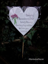 Everyday Remembering- Memorial Heart- Grave Ornament-Personalised- Mothers Day
