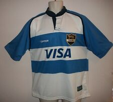 "Uar Jersey ""Visa"" Topper Size Medium Blue and White Short Sleeve Rare"