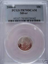 2006 S ROOSEVELT SILVER DIME PCGS PR70DCAM