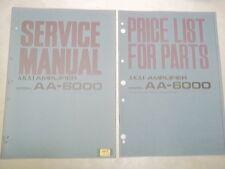 Vtg Akai Service/Repair Manual~AA-6000 Amp Amplifier~Original