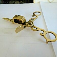 ANTIQUE PAIR OF BRASS CANDLE SNUFFERS - 6.25 INCHES LONG