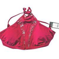 Mossimo swim Top red mesh racerback bikini top XL DD New with Tags