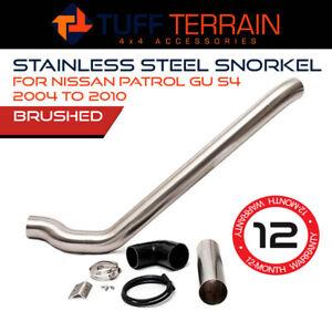 Tuff Terrain Stainless Steel Snorkel Fits Nissan Patrol GU 4 Brushed 2004-2010