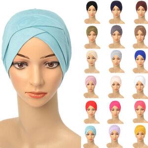 Female Hijab Bonnet Headwear Beanie Head Wraps Women's Caps Daily Wear Hats Hot