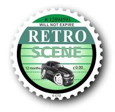 Novelty Retro Tax Disc Motif & Koolart Ford Granada Scorpio image car sticker