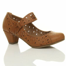 Scarpe da donna Mary Jane con tacco medio (3,9-7 cm) marrone