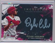 Dylan Carlson 2021 Topps Inception Auto Silver RC /50