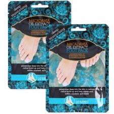 2x MACADAMIA OIL FOOT TREATMENT PACKS - Moisturise Cracked Split Heels Callus