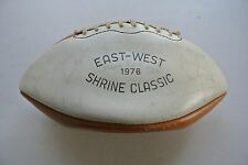 Vintage 1976 Stanford East - West Shrine Classic Autographed Football