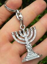 Jewish Menorah Key Ring Chain Jerusalem Temple Holy Light Menora Israel Judaica