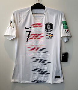 2018 South Korea Away S/S No.7 SON Hueng-Min Player Issue 2018 WorldCup Sweden L
