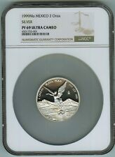 Tied for Finest Key Date NGC Proof 69 Ultra Cameo 1999 2 oz. Mexico Libertad