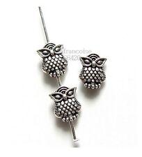 10 Intercalaires spacer métal Hibou Chouette 10x8mm Perles apprêts bijoux _ A205