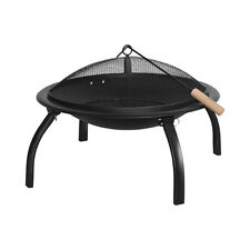 """Benross Large 22"""" Outdoor Garden Patio BBQ Barbeque Grill & Firepit Bowl - Black"""