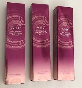 KOREANISCHE KOSMETIK N.1 - AHC Time Rewind Real Eye Cream 30mL x3 - NEU
