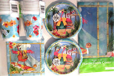 FLAMINGO FUN - Birthday Party Supply Set Pack Kit w/ 16oz Plastic Cups