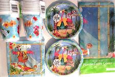 FLAMINGO FUN - Birthday Party Supply Set Pack Kit w/ 16oz Plastic Cups