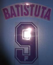 fiorentina kit BATISTUTA viola flock + plastichina Nameset maglia calcio fila