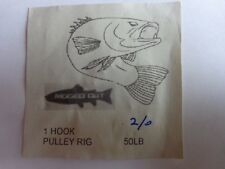 Hand Tied Sea Fishing 1 Hook Pulley rig size 2/0 hook 50lb main line