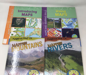 4 x Children's Geography Books Maps and Using Maps HB Age 7-11