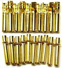 C0231x10 RC Conector 2mm Oro Plateado hombres y mujeres Bala Banana x 10 Set
