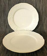"Set 2 Rosenthal Classic Sanssouci Dinner Plates 9.75"" Ivory with Gold Trim EUC"