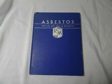 Asbestos Textiles and Textile Products Raybestos-Manhattan Cloth catalog 1940