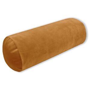 Mf46g Light Ginger Brown Soft Microfiber Velvet Bolster CASE Neck Roll COVER Siz