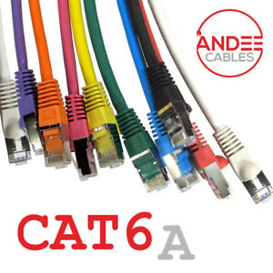 Cat6a Shielded Snagless Ethernet Cable 10g Fast LSZH Network LAN Patch Lead Lot