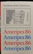 "SCOTT US #2216-2219 1986 ""AMERIPEX"" SET OF 4 MINI SHEETS MNH"