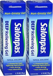 Salonpas Pain GEL 2.75 oz ( 2 tubes ) PHARMACY FRESH!