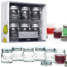 Mini Jar Shot Glasses With Lids, Small Jars With Screw On Lids- For Bar & Crafts