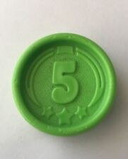 Vintage Fisher Price Coin for Cash Register Green 5 Five Nickel FP .05