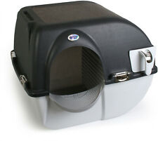 Omega Paw Large Elite Self-Cleaning Cat Pet Litter Box Easy to Use Black New