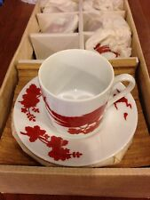 NEW Neiman Marcus NM3 Japanese Red Bird Cup & Saucer 864871 In A Box Fine China