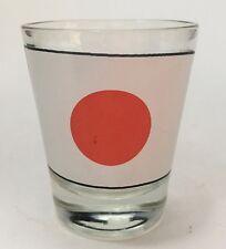 Japan Flag Shot Glass Travel Souvenir Barware