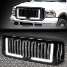FOR 05-07 FORD F250 F350 SUPER DUTY BADGELESS STYLE LED BAR FRONT BUMPER GRILLE
