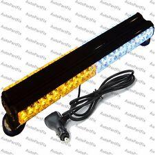 25 in 144W LED White Amber Light Magnet Warning Strobe Flash Bar Emergency Roof