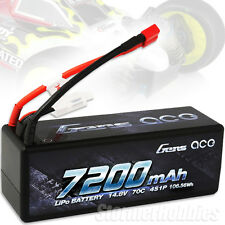 Gens Ace 7200mAh 14.8V 4S 70C 4S1P HardCase Lipo Battery with Deans-Plug