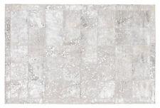 Silberner Patchwork-Teppich aus gefärbtem Kuhfell Cowhide - 210 cm x 170 cm