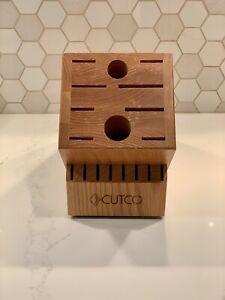 Cutco Knife Block 18 Slot Honey Oak Wood