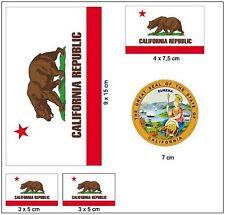 Aufkleber Set USA - Kalifornien NEU Fahne Flagge